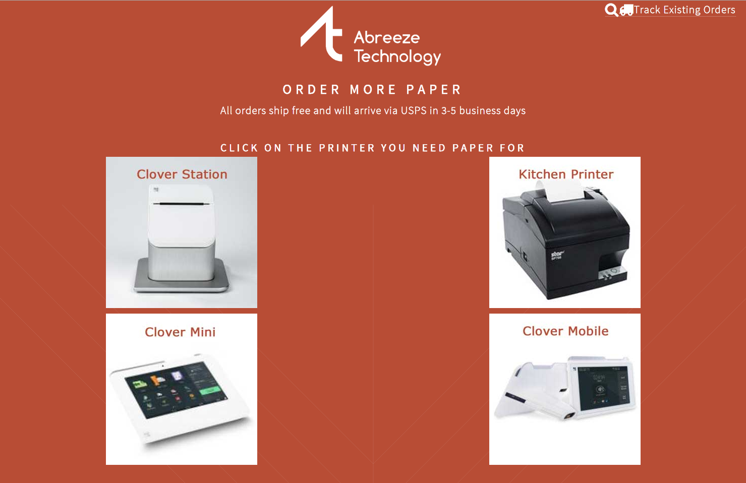 order paper app for clover by abreeze technology